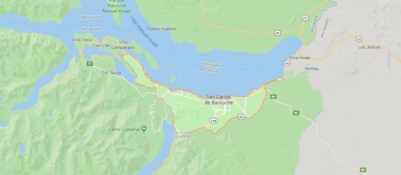 Mapa de Bariloche y sus calles, ¿Dónde queda y cómo llegar?