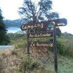 Cartel La Querencia Bariloche Argentina Camping Rio Negro
